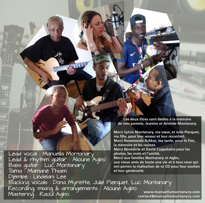 Dos livret CD Manuella Montanary